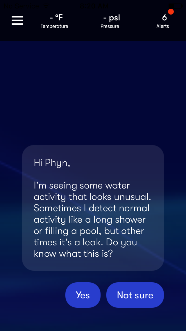 Water Usage Notification - 1